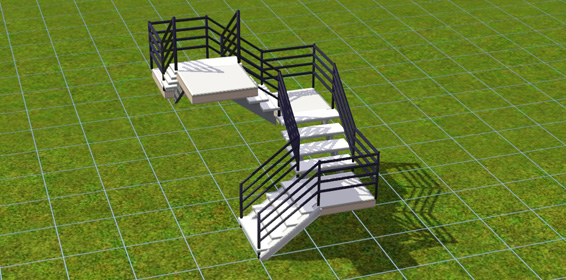 der bau einer ecktreppe in die sims 3 simtimes. Black Bedroom Furniture Sets. Home Design Ideas