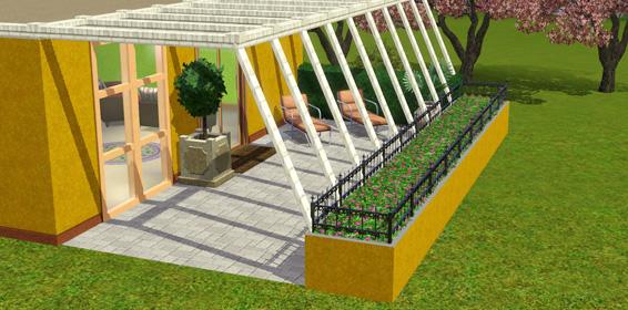 Moderne terrassengestaltung simtimes for Modernes haus sims