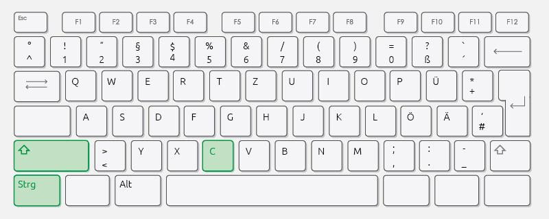 Tastatureingabe für Cheats