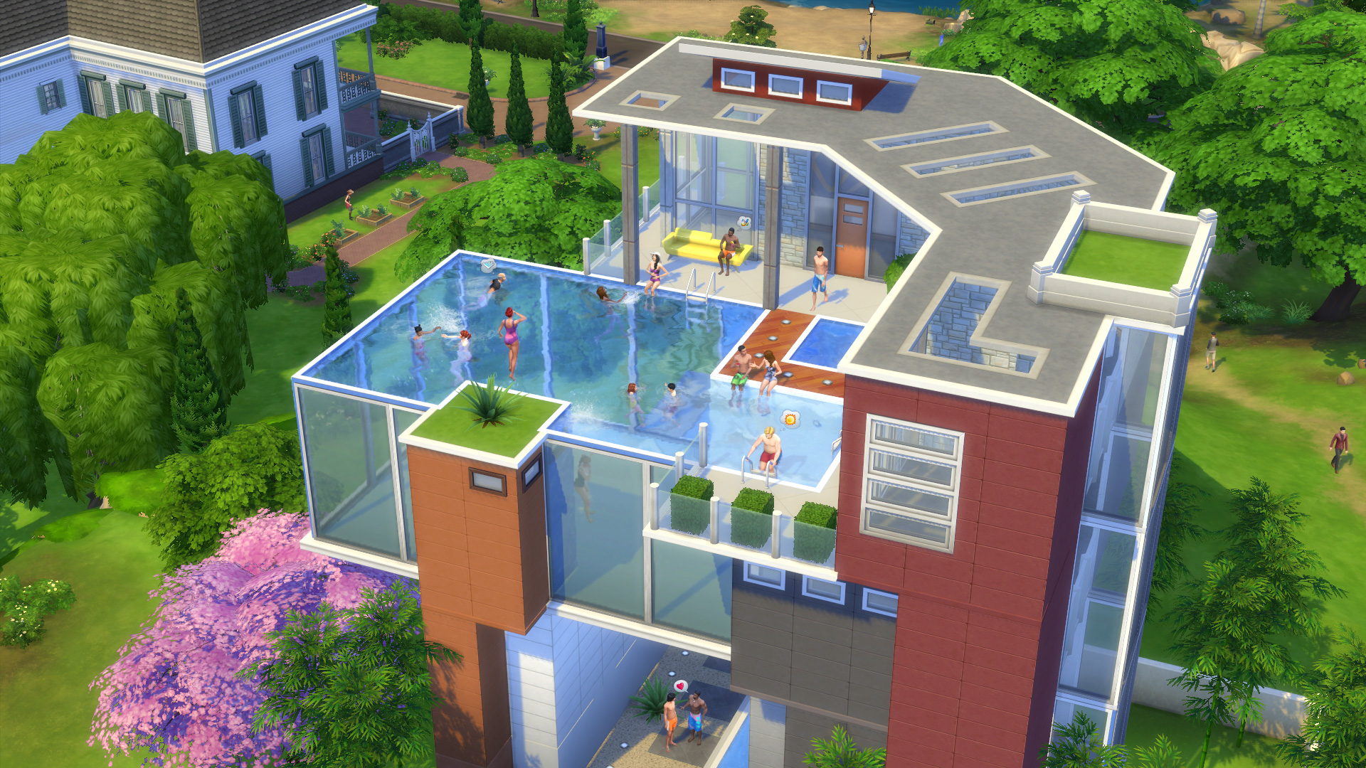 Alle infos ersteindruck zu den pools in die sims 4 for Modernes haus sims 4