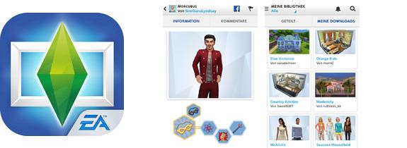 Die Sims 4 Galerie als App für iOS und Android