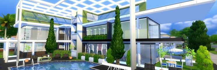 sims 4 moderne h user die neuesten innenarchitekturideen. Black Bedroom Furniture Sets. Home Design Ideas