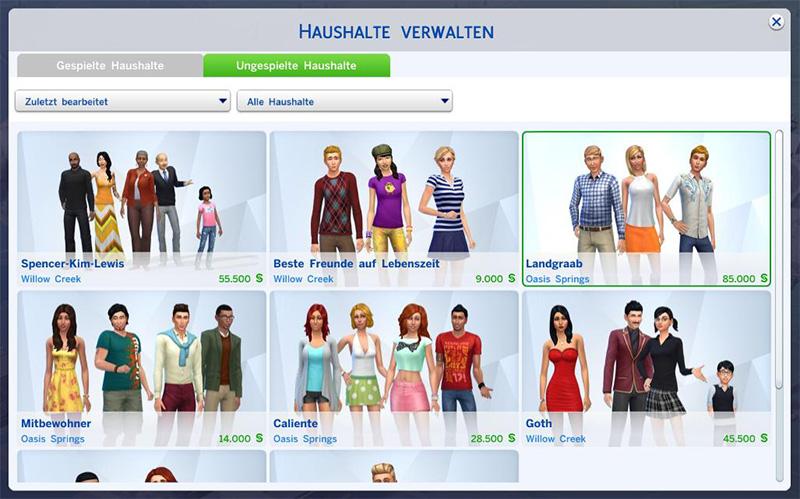 Die Sims 4: Sims aus Haushalt ausziehen lassen