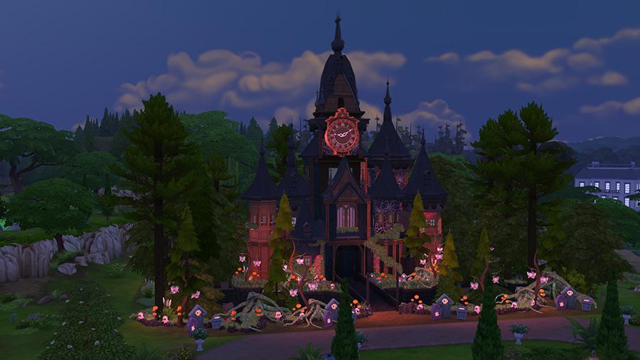10 schaurig sch ne die sims 4 grundst cke f r halloween simtimes. Black Bedroom Furniture Sets. Home Design Ideas
