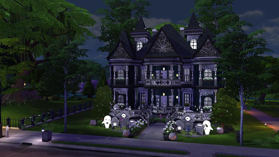 10 schaurig sch ne die sims 4 grundst cke f r halloween. Black Bedroom Furniture Sets. Home Design Ideas
