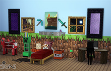 Downloads f r die sims 4 iglus mittelalter mincecraft - Minecraft kinderzimmer ...