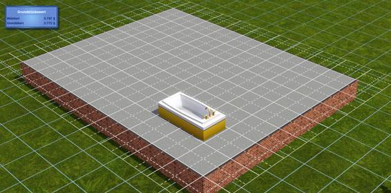 eine eingelassene badewanne bauen simtimes. Black Bedroom Furniture Sets. Home Design Ideas