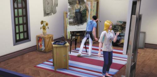 Die Sims 4 Karrieren und Berufe - Maler - Kunstmäzen