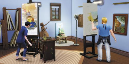 Die Sims 4 Karrieren und Berufe - Maler - Meister des Realen