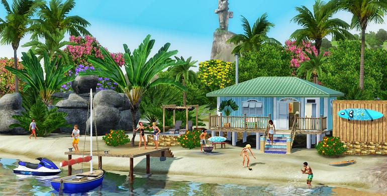 Симс 3 на компьютер райские острова
