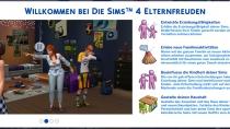 Sims 4 Elternfreuden Willkommensbildschirm