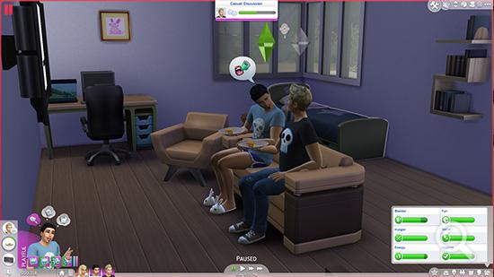 Die Sims 4 Menu Interface