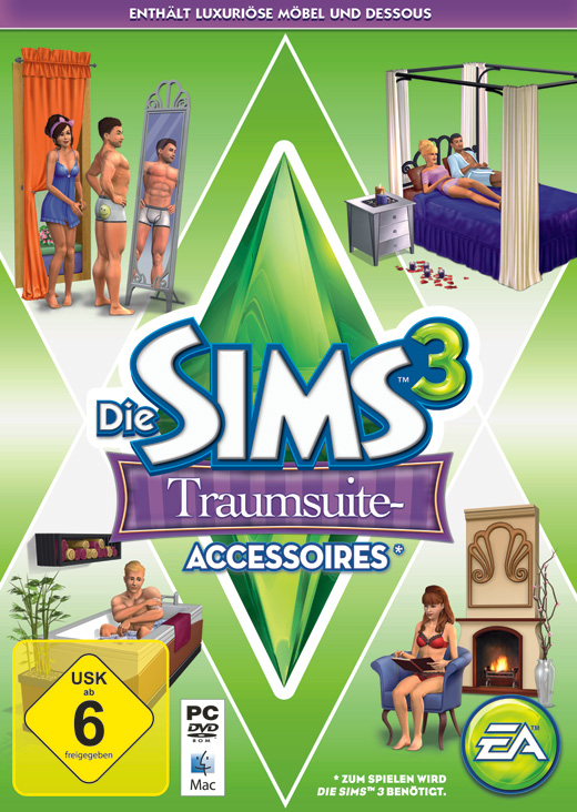 ea k ndigt die sims 3 traumsuite accessoires offiziell an. Black Bedroom Furniture Sets. Home Design Ideas