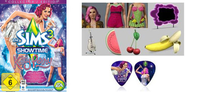 Inhalte der Die Sims 3: Showtime Katy Perry Collector's Edition
