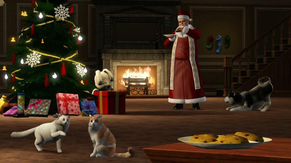 weihnachtliche einfach tierisch bilder von ea uk simtimes. Black Bedroom Furniture Sets. Home Design Ideas