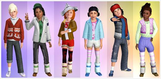 Kids-Collection (17 Artikel für 1.200 SimPoints)