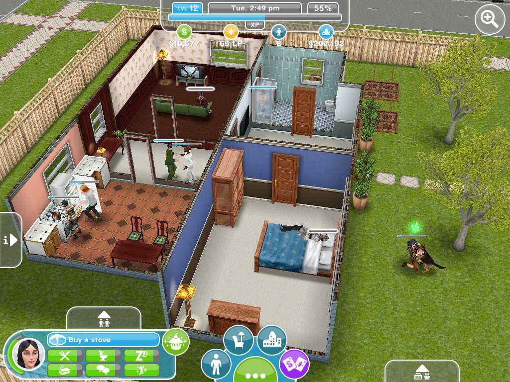 The sims freeplay sieben neue bilder releasedatum for Case the sims 3 arredate