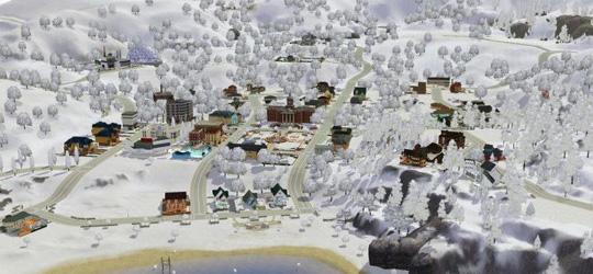 Downloadtipp: Schneebedecktes Sunset Valley